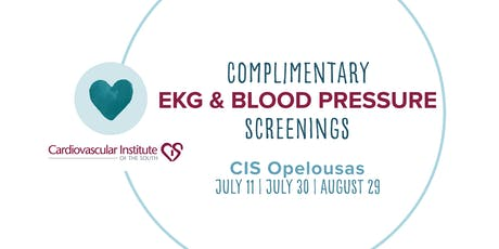 CIS Opelousas: Free EKG & Blood Pressure Screening tickets