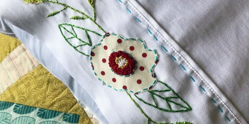 Modern Vintage Embroidered Pillowcases