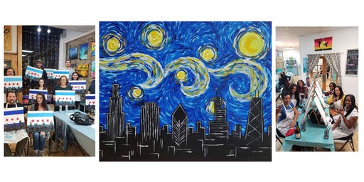 """BYOB Sip & Paint Event - """"Chicago Starry Night"""""""