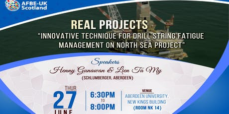 AFBE Real Projects Talk: 'Innovative Technique for Drill String Fatigue Management' tickets