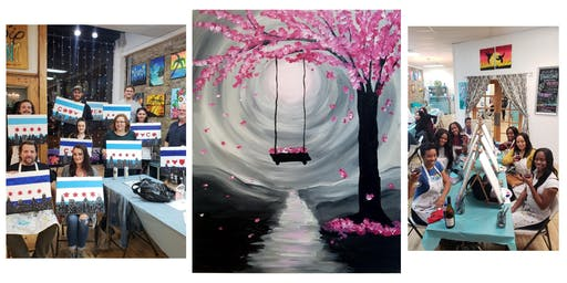 """BYOB Sip & Paint Event - """"Cherry Blossoms"""""""
