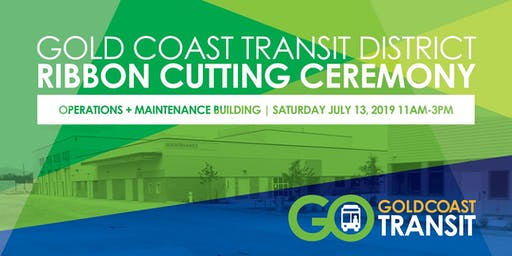 Gold Coast Transit District's New Facility Ribbon Cutting