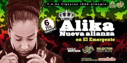 Alika & Nueva Alianza en El Emergente Almagro, 6/07 23.50hs