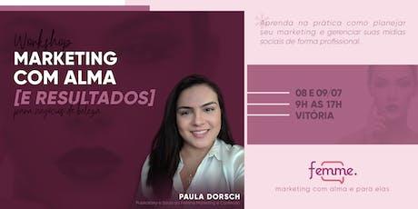 Workshop Marketing com Alma [e resultados] | Para negócios de moda e beleza ingressos