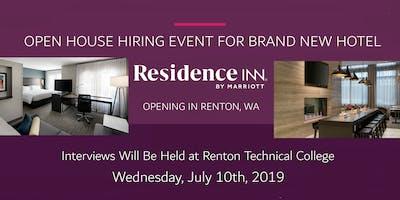 OPEN HOUSE HIRING EVENT / JOB FAIR -  NEW RESIDENCE INN BY MARRIOTT RENTON