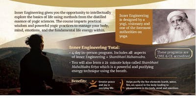Inner Engineering Total in Ft. Lauderdale: Technologies for Wellbeing