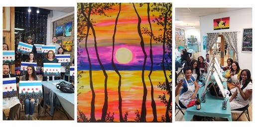 """BYOB Sip & Paint Event - """"Colorful Sunset"""""""