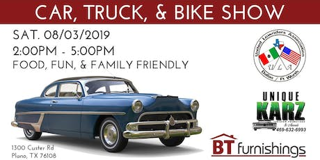 CAR, TRUCK, & BIKE SHOW - Plano tickets