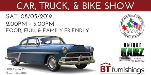 CAR, TRUCK, & BIKE SHOW - Plano