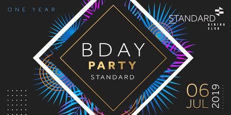 Aniversario 1 Ano - Standard Dining Club ingressos