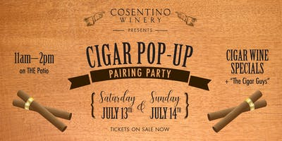 Cosentino Cigar Pop-Up Pairing