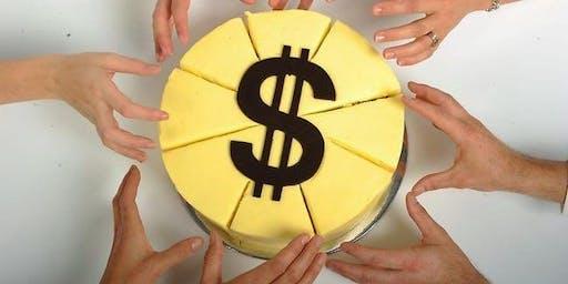How to Split the Pie, Raise Money and Reward Contributors