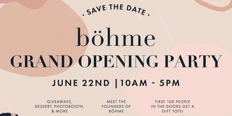 Böhme at City Creek Grand Opening Event tickets