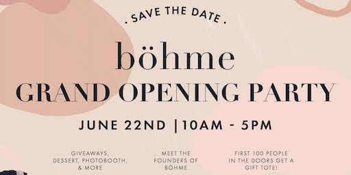Böhme at City Creek Grand Opening Event