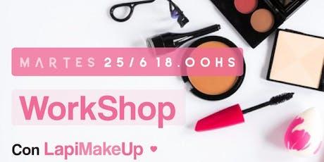 Workshop Maquillaje con LapiMakeUp entradas