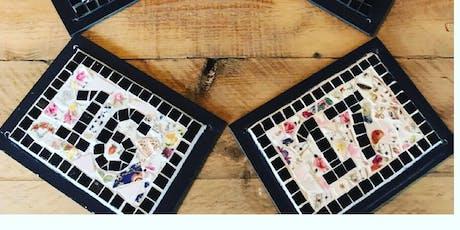 Mosaic Door Number Plaque  tickets