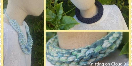 Knit a Necklace - Creative Craft Trail for Sma Shot Festival Paisley