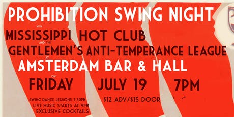 PROHIBITION SWING NIGHT tickets