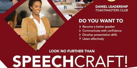 Speechcraft 2019 - Daniel Leadership Toastmasters Club tickets