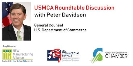 Green Bay USMCA Roundtable with Peter Davidson, US Dept of Commerce