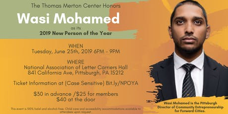 2019 New Person of the Year Award - Wasi Mohamed  tickets