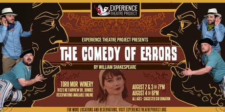 The Comedy of Errors at Torii Mor Winery- Friday, August 2 at 7:00pm tickets