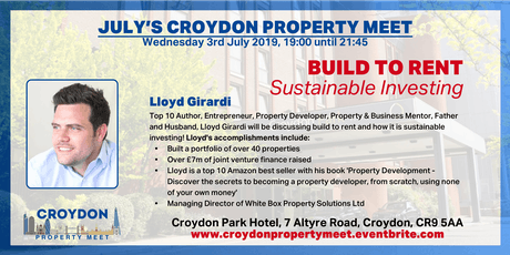 BUILD TO RENT - Sustainable Investing with Lloyd Girardi @ July's CPM tickets