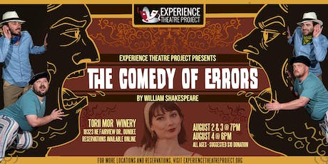 The Comedy of Errors at Torii Mor Winery- Saturday, August 3 at 7:00pm tickets