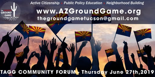 """TAGG Monthly Forum - """"Frustration is not a work plan! Engaging voters is a constructive alternative."""""""