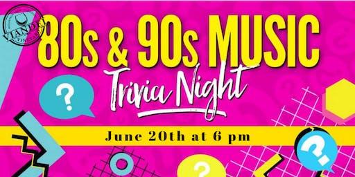 80s & 90s Music Trivia at the Vineyard