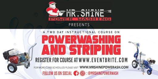 2 day Powerwashing & Parking lot striping course