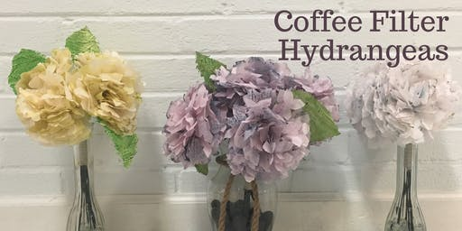 Coffee Filter Hydrangea Workshop
