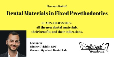 Dental Lab Materials in Fixed Prosthodontics tickets