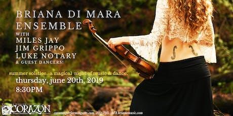 Briana Di Mara Ensemble with Miles Jay Jim Grippo Luke Notary tickets