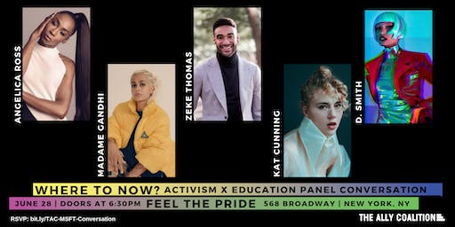 MSFT Feel The Pride: Where To Now? Activism x Education Panel Conversation