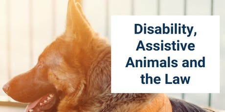 Disability, Assistive Animals and the Law tickets