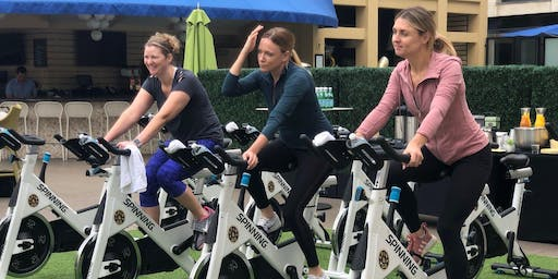 Poolside Spin Class Upper East Rooftop Terrace