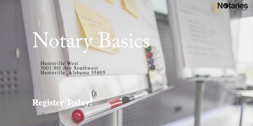 Notary Basics: Training for Alabama's Notaries - Huntsville