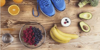 Recovery nutrition education session and run