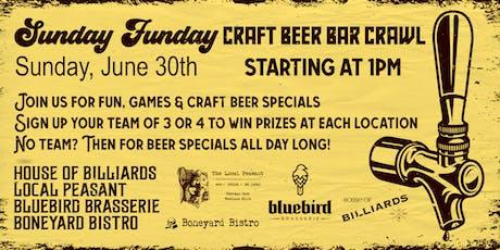 Sunday Funday Craft Beer Crawl!  tickets