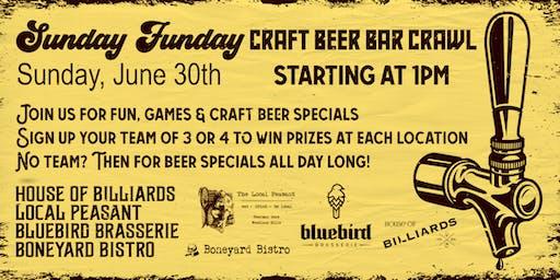 Sunday Funday Craft Beer Crawl!