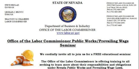 Office of the Labor Commissioner Public Works/Prevailing Wage Seminar (Las Vegas) tickets