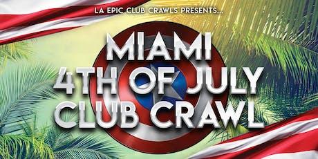 4th of July Miami Club Crawl tickets