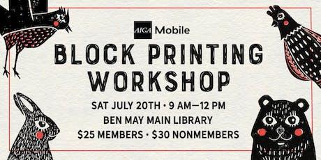 AIGA Mobile: Block Printing Workshop tickets