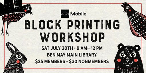 AIGA Mobile: Block Printing Workshop
