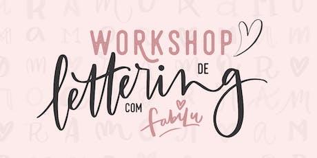 WORKSHOP DE LETTERING COM FABILU ♥ SP ingressos
