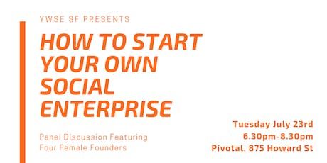 How to Start Your Own Social Enterprise tickets