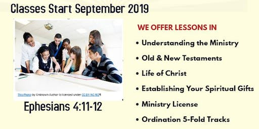 REGISTRATION/ORIENTATION 2019-2020 MINISTRY TRAINING COLLEGE JEHOVAH SHALOM INTERNATIONAL KINGDOM MINISTRIES