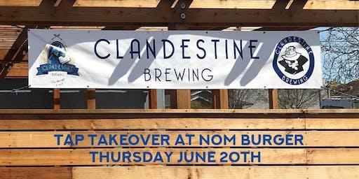 Clandestine Brewing at Nom Burger