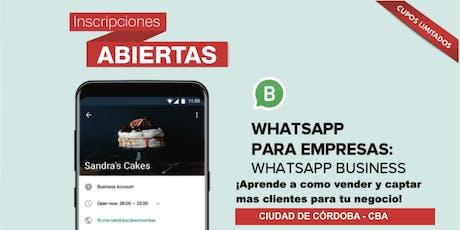 CURSO CBA- ¿Como captar clientes y vender por WhatsApp Business? entradas
